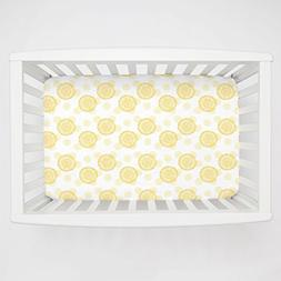 Carousel Designs Yellow Dandelion Mini Crib Sheet 5-Inch-6-I