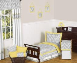 Sweet Jojo Designs 5-Piece Yellow and Gray Chevron Zig Zag B