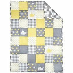 Yellow Quilts & Bed Covers And Grey Baby Blanket For Newborn