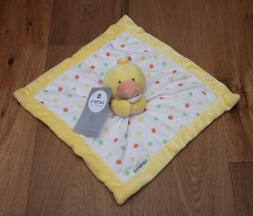 Carter's Yellow/White Duck Security Blanket with Plush
