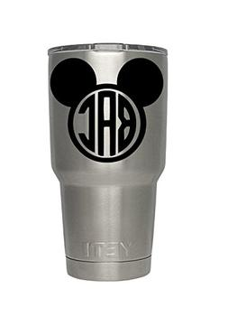 Yeti Mickey Inspired Monogram decal for yeti,rtic, ozark tum