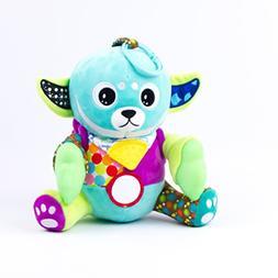 Yummy Buddy Teether Plush Sensory Chew Toy with Teething Bib