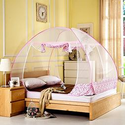 Yurt Mosquito Net for Bed Pop Up Folding Foldable Mosquito N