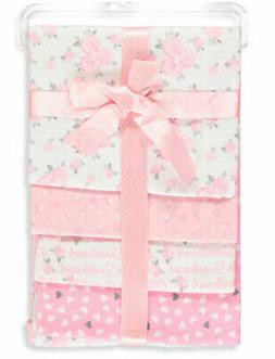 Zak & Zoey Baby Girls' 4-Pack Receiving Blankets