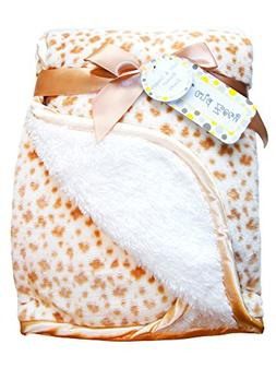 Zak & Zoey Ultra Soft Sherpa Animal Print Baby Blanket, 30 X