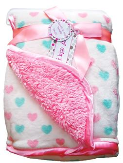 Zak & Zoey Ultra Soft Sherpa Shapes Baby Blanket, 30 X 40 In