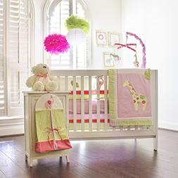 Pam Grace Creations Zoe's Zoo Day 10 Piece Crib Set With Bum