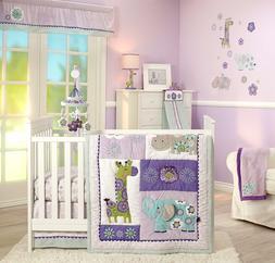 Carter's Zoo Collection 4 Piece Crib Bedding Set Bedding